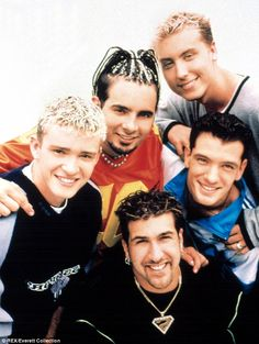 The way we were: N'Sync at the height of their fame looking unrecognisable