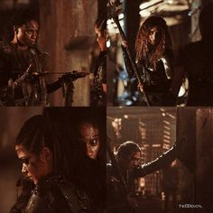 """#The100 4x10 """"Die All, Die Merrily"""" -  Indra, Luna, Octavia and Ilian"""