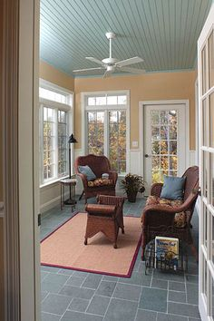 Sunporch Ideas Going To Paint Our Roof Blue In Back Porch