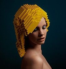 LEGO wigs - Creativity never ceases to amaze!  What next?