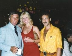 Richard Dawson with Dorothy Stratten and Paul Snider.