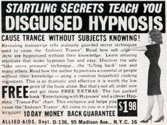Vintage Hypnosis Ad Startling Secrets Teach You Disguised Hypnosis