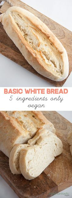 Basic White Bread - vegan | ElephantasticVegan.com - This is a beautiful…