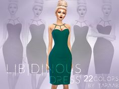 A new dress design that comes in 22 colors! Available for sims aged teen to elder and has its own thumbnail.  Found in TSR Category 'Sims 4 Female Everyday'