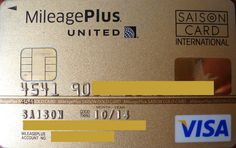 United | MileagePlus | VISA Gold | Saison Card Japan