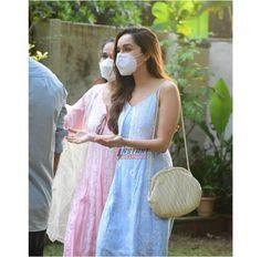Shraddha Kapoor, Straw Bag, Actresses, Indian, Fashion Outfits, Bags, Pj, Female Actresses, Handbags