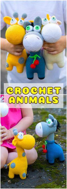Easy Amigurumi crochet pattern toy animals for beginner.