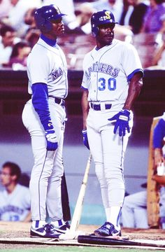 253d83ed416aa8  On this date in 1990 (September Ken Griffey Sr. and his son Ken Griffey Jr.  both on the Seattle Mariners homered in consecutive at-bats against the  Anaheim ...