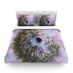 KESS InHouse Dandelion Clock by Alison Coxon Featherweight Duvet Cover Size: King/California King, Fabric: Woven Polyester