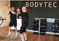 Personal Trainer Byron training a client at our BODYTEC Bryanston studio. #studio #Bryanston #fitness #emstraining #fit #strengthtraining #ems #electricmusclestimulation #training #personaltrainer #motivation #inspiration #coach #20minutes #intense #HIIT #mondaymotivation #bodytecsa