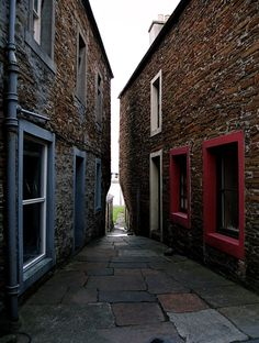 Just one of plenty charming nooks of Stromness - one of bigger cities in Orkney Islands. The name Stromness comes from the Norse Straumrnes.