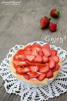 {let's make a} White Chocolate Strawberry Tart from Celebrating Everyday Life blog
