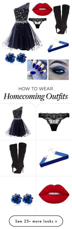 """""""Fancy Blue"""" by catloveskats on Polyvore featuring Lime Crime and GUESS"""