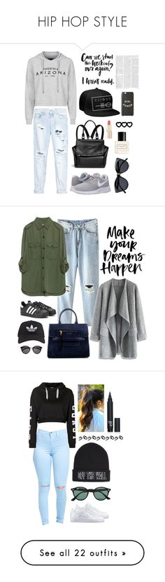 """HIP HOP STYLE"" by neja-ramsak ❤ liked on Polyvore featuring Topshop, One Teaspoon, NIKE, Givenchy, Le Specs, Marc Jacobs, Zara, Chicwish, adidas and Yves Saint Laurent"