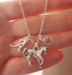Horse Necklace, Pony necklace, Horse Charm Necklace, Horse Lover Gift, Horse Lover Necklace, Gift for Horse Lover, Horse Lady Gifts