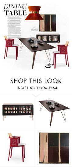 """""""red dining..."""" by ian-giw ❤ liked on Polyvore featuring interior, interiors, interior design, home, home decor, interior decorating, Modloft, Ethimo and modern"""