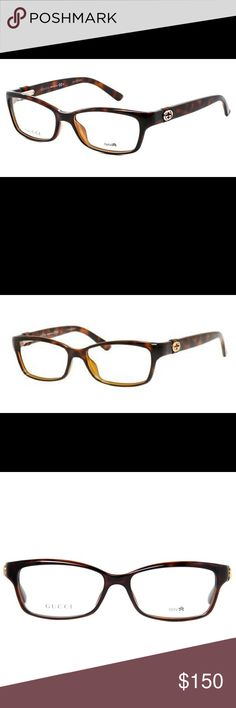 GUCCI GG3647 in Havana Brown Glasses! Authentic! In a rectangular shape, the GG3647 glasses are a women's frame suited to heart, round and oval shaped faces. I used these frames as prescription glasses for about 1 year. Still in great condition! There is minimal wear on the legs of the frame. They are suitable for Varifocal. 100% Authentic! Take them to your local optometrist for sizing and fitting and your own prescription. Unfortunately, I don't have the case. Make me an offer! Ships same…