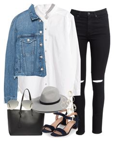 Untitled #3421 by peachv on Polyvore featuring polyvore, fashion, style, H&M, Zara, Monsoon, Yves Saint Laurent, Forever 21, rag & bone, Ray-Ban and clothing