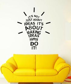 Office Wall Design, Office Wall Decals, Office Walls, Office Wall Graphics, Wall Painting Decor, Painting Quotes, Creative Wall Painting, Custom Vinyl Lettering, Office Quotes