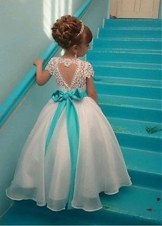 Buy discount Marvelous Organza & Lace Jewel Neckline Ball Gown Flower Girl Dresses With Beadings at Laurenbridal.com