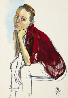 "Alice Neel   Diana Douglas,"" 1965 by Alice Neel (Estate of Alice Neel)"