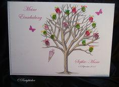 Weiteres - Gästebuch zur Einschulung Zuckertütenbaum rosa - ein Designerstück von Partybuecher bei DaWanda