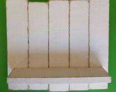 White Pallet Wood Shelf Wall Decor White by TheWoodGarageLLC