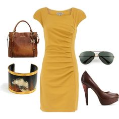 I wear this great gold dress to the office all of the time....
