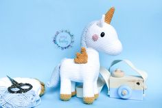 Stuffed Unicorn, Dinosaur Stuffed Animal, Crochet Baby Toys, Beautiful Unicorn, Gifts For Girls, Nursery Decor, Shop, Kids, Animals