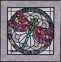 stained glass dragonfly pattern - Google Search