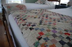 Beautiful quilts. An Irish chain is on my bucket list. A triple 30s and a single in bright tangerine!