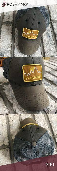 Patagonia trucker hat / cap adjustable Patagonia cap / hat  Logo on front  Brand tag on back  Adjustable  Back half is mesh  Pet free smoke free  Men's women's kids Patagonia Accessories Hats