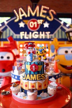 Super wings birthday cake