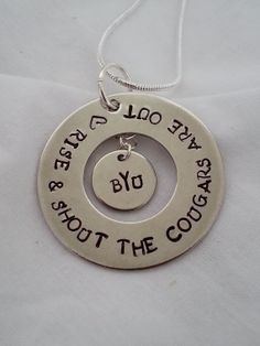 #BYU college football game day hand stamped jewelry  This one can be done with most universities. #templestamping