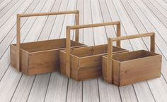 Wooden Baskets, Wooden Planters, Basket Planters