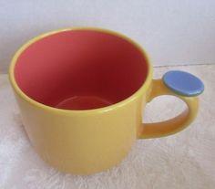 Lindt-Stymeist Colorways Thumbprint Mug Yellow Salmon Blue #LindtStymeist