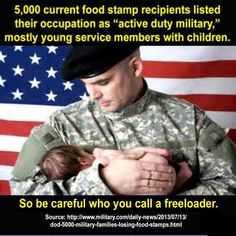"current food stamp recipients listed their occupation as ""active duty military""… Bernie Sanders, Vet Jobs, Food Stamps, Thats The Way, Way Of Life, Real Life, Thought Provoking, In This World, Just In Case"