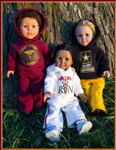 Custom Hoodie Outfit for American Girl or Boy Doll Sweatshirt