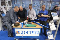 Pichler talk business at the Garage Expo show