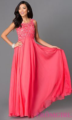 Floor Length Sleeveless Prom Dress 8149 at PromGirl.com