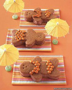 Chocolate-Ginger Bathing Beauties awww!! #MarthaStewart has some fun ideas!