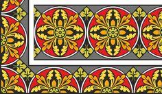 Средневековый векторный орнамент
