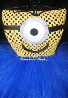 Despicable Me inspired tutu dress Monster tutu by PamperedPaisley