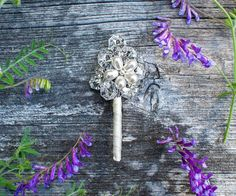 #Groom #Boutonniere by Ky Kampfeld - Bridal Bouquets by Ky