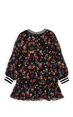 Givenchy Kids' Pansy-Print Chiffon Dress #baby #kids Long Sleeve Chiffon Dress, Girls Designer Clothes, Tailored Trousers, One Piece Dress, Barneys New York, Pansies, Rib Knit, Ready To Wear, Girl Outfits