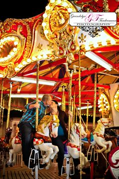 binghamton IS the carousel capitol of the world...this would be a very fun and colorful wedding picture!