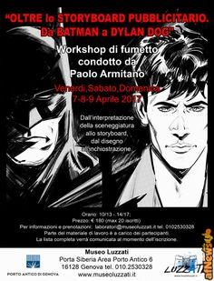 """Da Batman a Dylan Dog"": al Luzzati workshop con Paolo Armitano - https://www.afnews.info/wordpress/2017/04/02/da-batman-a-dylan-dog-al-luzzati-workshop-con-paolo-armitano/"