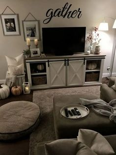 If you are looking for Farmhouse Living Room Tv Stand Design Ideas, You come to the right place. Here are the Farmhouse Living Room Tv Stand . Living Room Tv, Cozy Living Rooms, Apartment Living, Home And Living, Farmhouse Living Room Decor, Cozy Apartment, Tv Stand Ideas For Living Room, Modern Living, Decorating Ideas For The Home Living Room