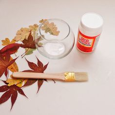 Brighten Your Space With DIY Fall Leaf Votives