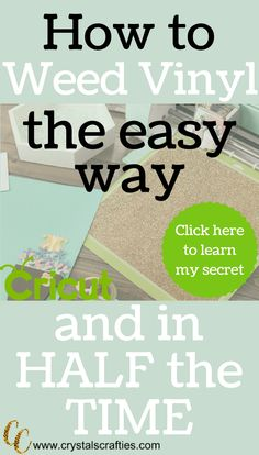 The easy to weed vinyl with more efficiency and in half the time. Vinyl Crafts, Vinyl Projects, Circuit Projects, Cricut Craft Room, Cricut Vinyl, Weeding Tips, What Are Weeds, Cricut Help, Cricut Tutorials